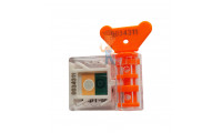 Пломбы свинцовые 10 мм - Антимагнитная номерная пломба АМ-ТФ (DUAL), оранжевый