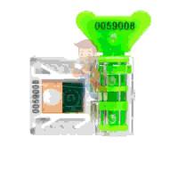 Пломба пластиковая Силтэк 2 - Антимагнитная номерная пломба АМ-ТФ (DUAL), зеленый