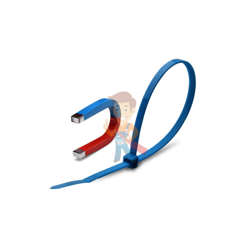 """Стяжки кабельные КСС """"Magnetic"""" 5х370 (син) (100 шт)"""