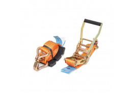 Стяжные ремни - Ремень автовозный (крюк профильный, 3 накладки)