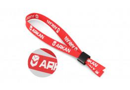 Тканевые контрольные браслеты с логотипом 12 мм (вышивка)