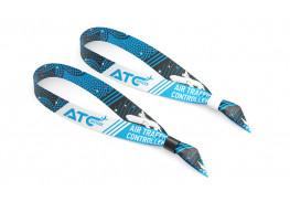 Тканевые контрольные браслеты с логотипом 15 мм (сублимация) с одноразовым креплением