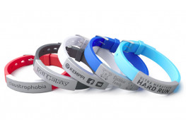 Силиконовые ID браслеты с ремешком (лазерная гравировка)