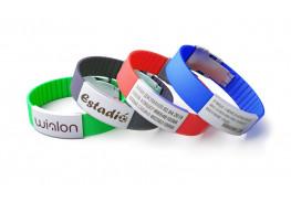 Силиконовые ID браслеты с застежкой (лазерная гравировка)