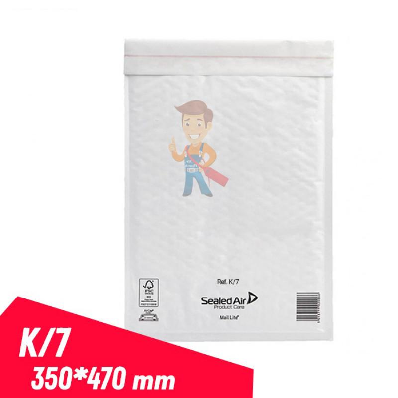 MAIL LITE WHITE K/7, белый пакет с воздушной подушкой