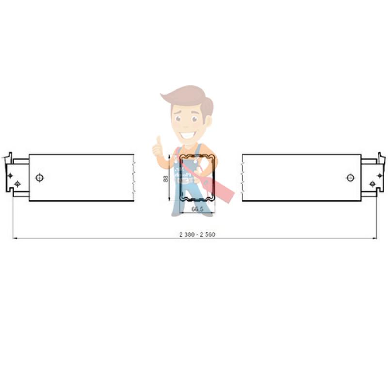 Телескопическая грузовая планка - фото 1