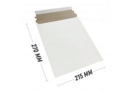 Курьер-пакет 215x270 мм из белого картона 390 гр./м2