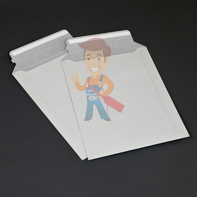Курьер-пакет В4 250х353 мм из белого картона 390 гр./м2 - фото 4