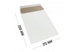 Курьер-пакет S5 175x250 мм из белого картона 390 гр./м2