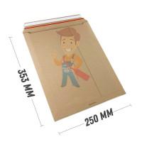 Курьер-пакет В4 250х353 мм из микрогофрокартона 450 гр./м2 - Курьер-пакет В4 250х353 мм из бурого картона 400 гр./м2