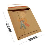 Курьер-пакет S5 175х250 мм из бурого картона 400 г/м2 - Курьер-пакет В4 250х353 мм из микрогофрокартона 450 гр./м2