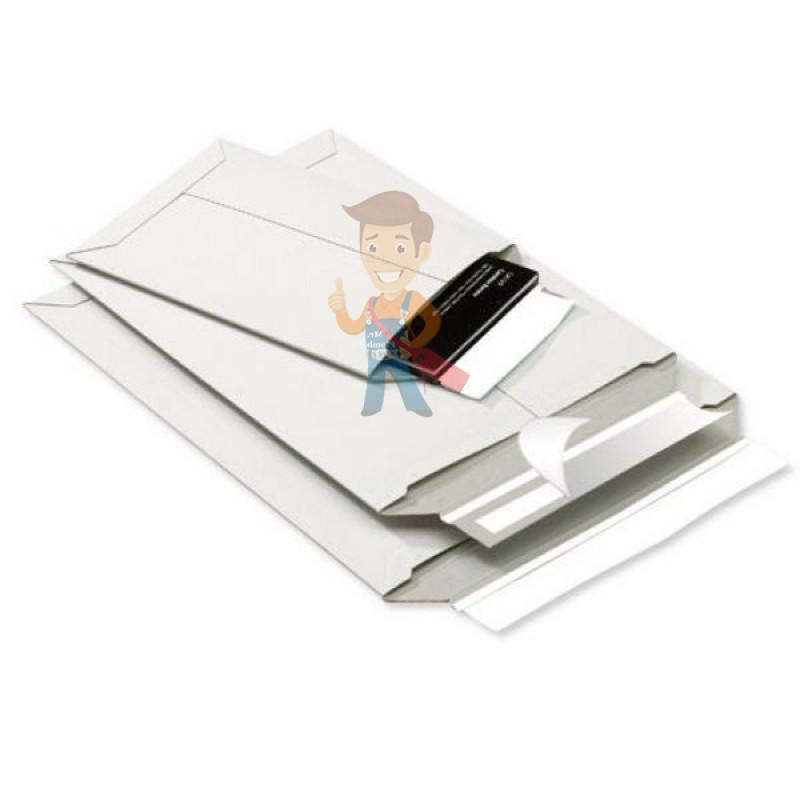 Курьер-пакет В4 250х353 мм из белого картона 390 гр./м2 - фото 5