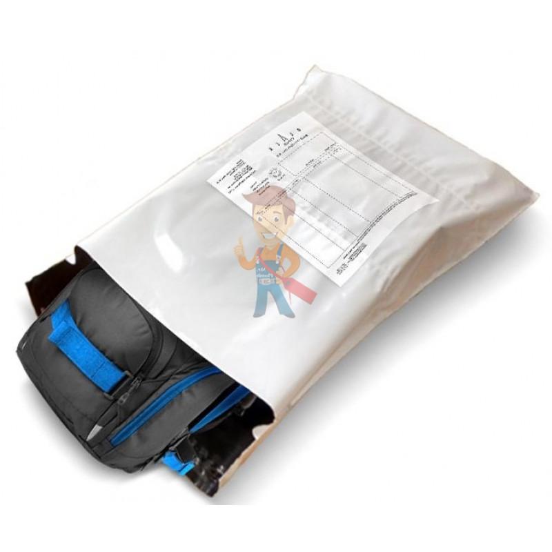 Курьерский пакет 165*240+40 мм, без логотипа, с карманом - фото 1