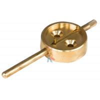 Опечатывающее устройство сейфовое тип № 1 - Опечатывающее устройство Шток задвижной (латунь)