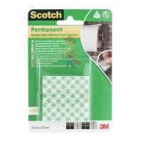 Клейкая монтажная лента Scotch®, для зеркал 19 мм х 1,5 м - Квадраты монтажные двусторонние клейкие Scotch®, 16 шт./упаковка