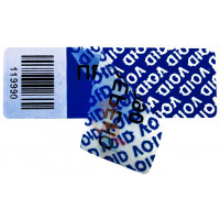 Пломба наклейка номерная НН-4, 20x100 мм - Пломба наклейка тип VOID RED, VOID SILVER, VOID BLUE, VOID CHROME