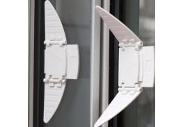 Блокиратор-бабочка для раздвижных окон и шкафов-купе, 2 шт.