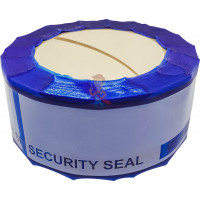 Пломба наклейка номерная НН-1, 20x35 мм - Защитная лента номерная синяя 50х150 мм (50 метров)