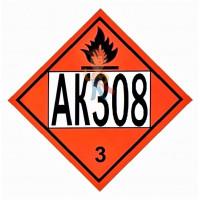 Знак ООН 30/1993 - Знак опасности АК 308