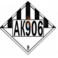 Знак ООН 30/1993 - Знак опасности АК 906