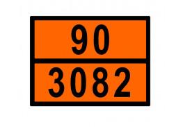 Знаки опасности жд - Знак ООН 90/3082
