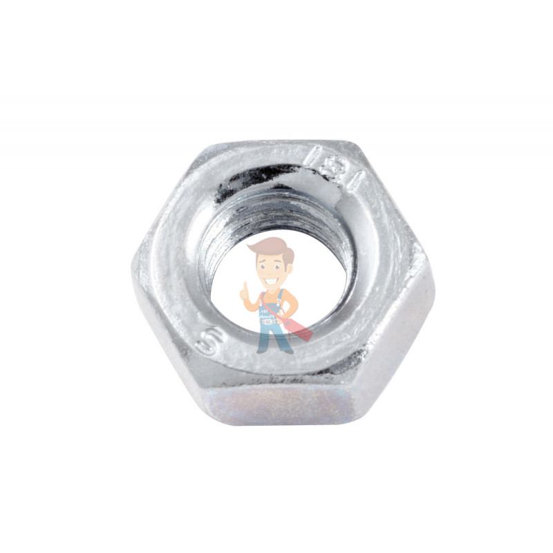 Гайка М6 шестигранная оцинкованная ГОСТ 5915-70 (DIN 934) Forceberg Home&DIY, 30 шт - фото 1