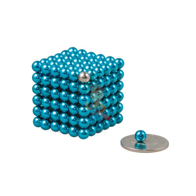 Forceberg Cube - куб из магнитных шариков 5 мм, бирюзовый, 216 элементов - фото 1