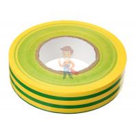 Изолента резиново-мастичная Scotch® 2228, 50 мм х 3 м - ПВХ изолента универсальная, желто-зеленая, 19 мм x 20 м