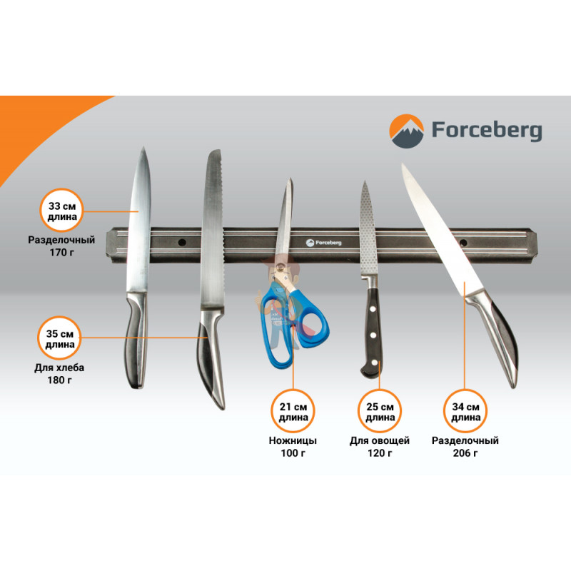 Магнитный держатель для ножей Forceberg 555 мм - фото 2