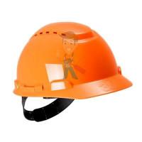 Каска защитная с вентиляцией, стандартное оголовье, оранжевая - Каска защитная с вентиляцией, стандартное оголовье, оранжевая