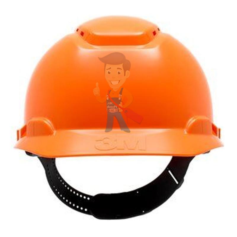 Каска защитная с вентиляцией, стандартное оголовье, оранжевая - фото 1
