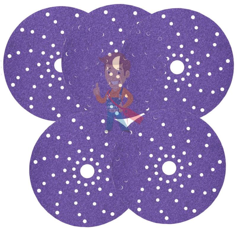 Круг абразивный c мультипылеотводом Purple+, 220+, Cubitron Hookit 737U, 150 мм