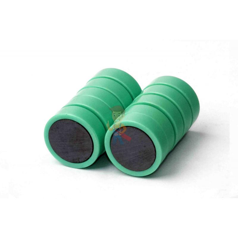 Магнит для магнитной доски FORCEBERG 20 мм, зеленый, 10шт. - фото 2