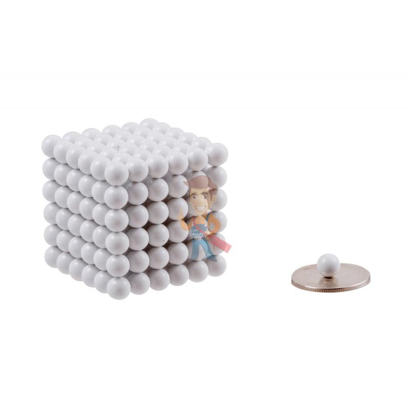 Forceberg Cube - куб из магнитных шариков 6 мм, белый, 216 элементов - фото 1