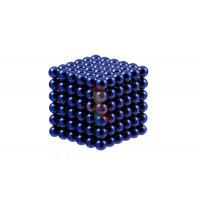 Forceberg Cube - куб из магнитных шариков 5 мм, светящийся в темноте, 216 элементов - Forceberg Cube - куб из магнитных шариков 6 мм, синий, 216 элементов
