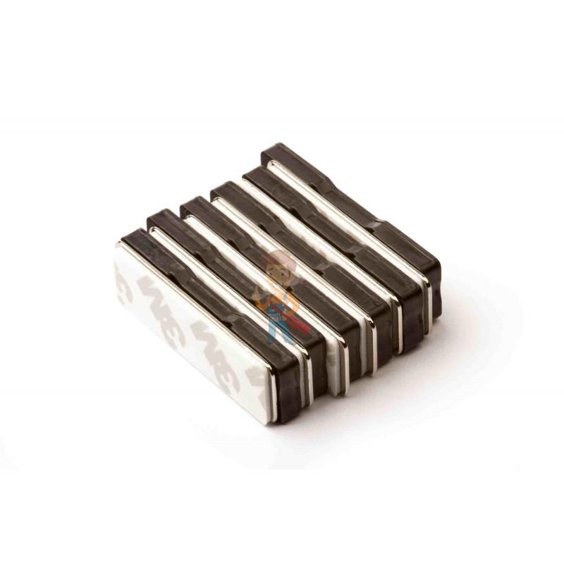 Магнитное крепление для бейджей 45х13 мм, пластик - фото 2