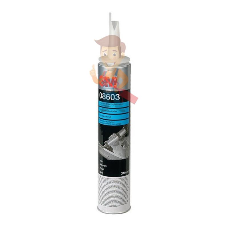 Клей-герметик полиуретановый для вклейки стекол, черный, 310 мл