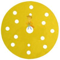 Круг абразивный 255P+, золотой, 15 отв, Р220, 150 мм, 3M™ Hookit™ - Круг Абразивный, золотой, 15 отверстий, Р220, 150 мм,3M™ Hookit™ 255P+, 10 шт/уп
