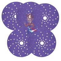 Круг Абразивный, золотой, 15 отверстий, Р360, 150 мм,3M Hookit 255P+ 10 шт/уп. - Круг абразивный c мультипылеотводом Purple+, 180+, Cubitron Hookit 737U, 150 мм