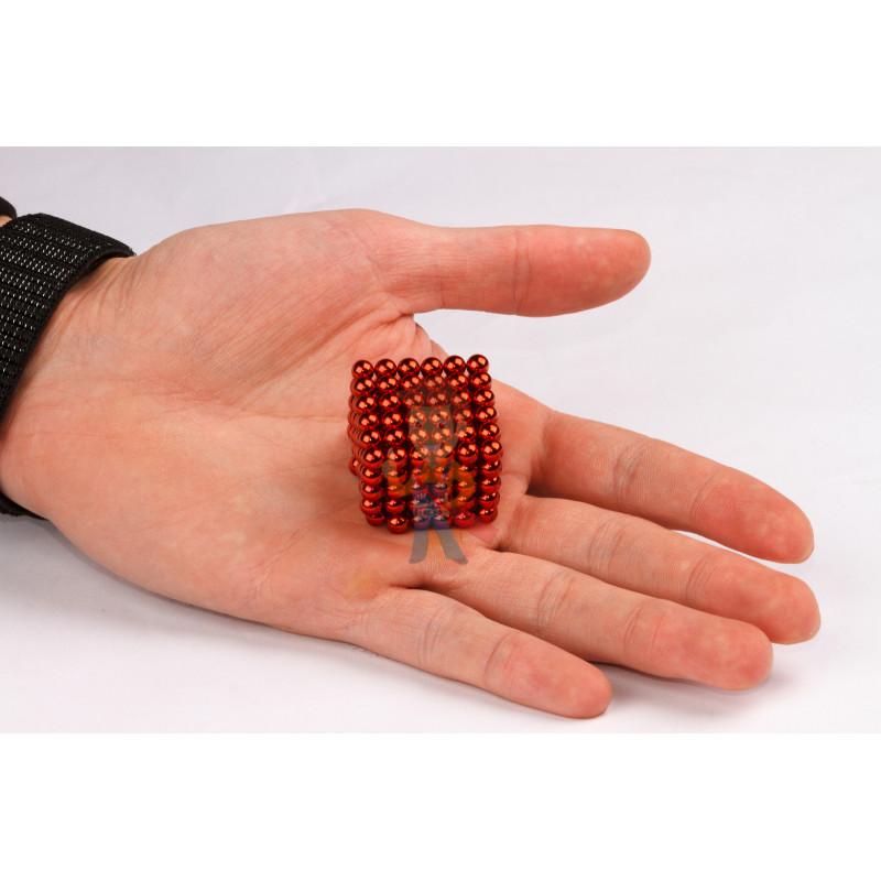Forceberg Cube - куб из магнитных шариков 5 мм, красный, 216 элементов - фото 2