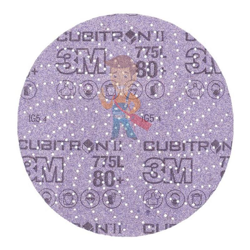 Круг Шлифовальный, 80+, 125 мм, Клин Сэндинг, 3M Cubitron II Hookit 775L 10 шт./уп. - фото 2