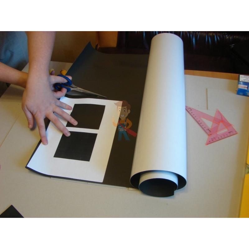 Магнитный винил с клеевым слоем, рулон 0.62х15 м, толщина 1.5 мм - фото 1