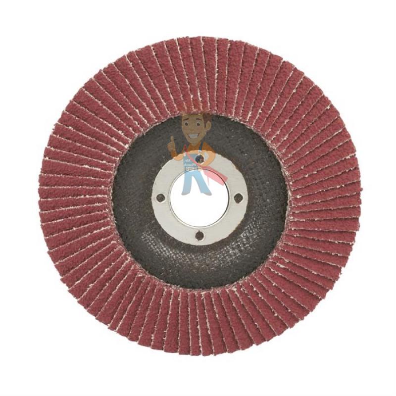 Круг лепестковый торцевой шлифовальный конический  967A, 125 мм х 22 мм, 60+ - фото 1