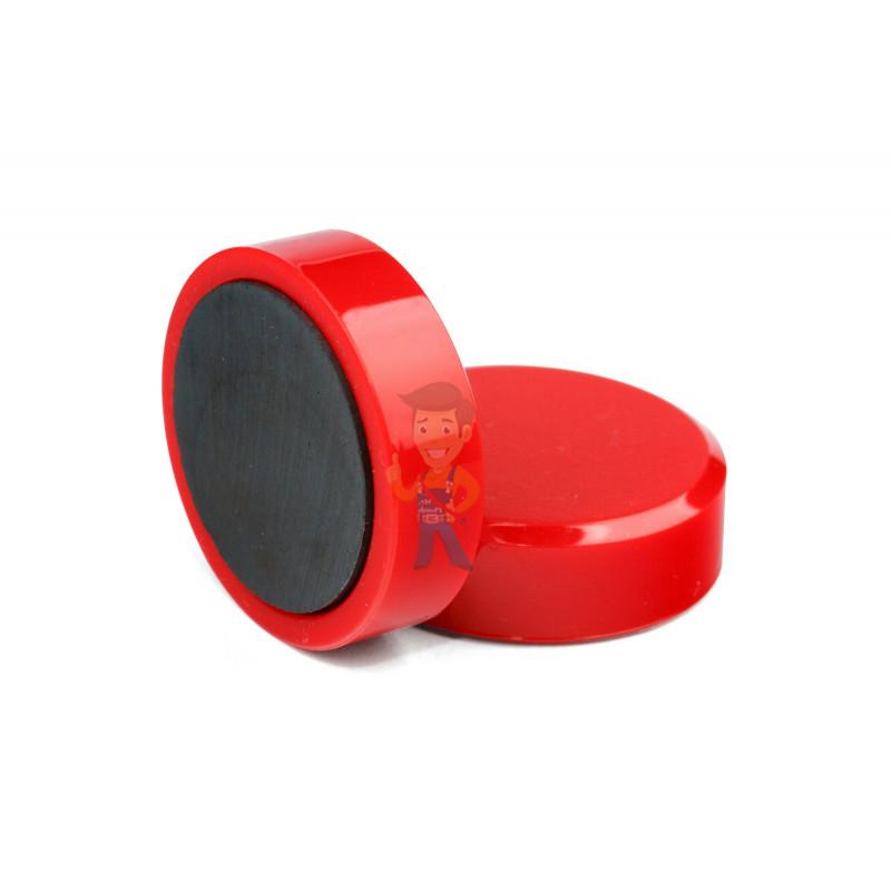 Магнит для магнитной доски Forceberg 30 мм, красный, 10шт. - фото 1