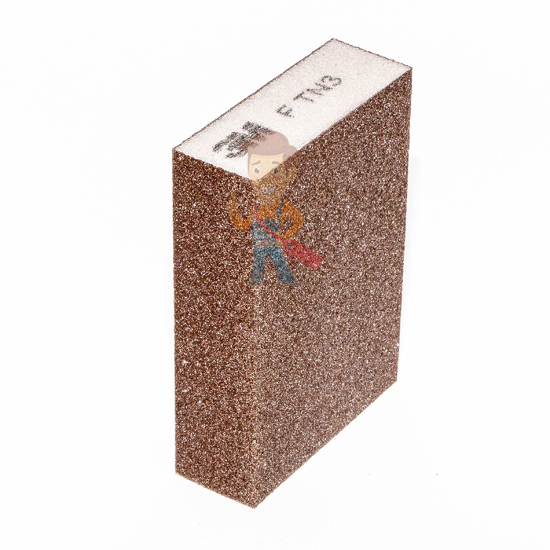 Губка Четырехсторонняя, FIN, жесткая, 96 мм х 66 мм х 25 мм, 5 шт./уп. - фото 1