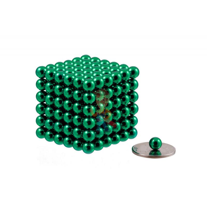 Forceberg Cube - куб из магнитных шариков 6 мм, зеленый, 216 элементов - фото 1