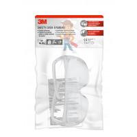 Защитные закрытые очки 2890 из поликарбоната, с непрямой вентиляцией - Очки защитные открытые 3М™ Visitor для использования с офтальмологическими очками, прозрачные