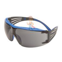 Cалфетки очищающие 3M, для ухода за очками, 100 шт. в индивидуальных упак. - Очки открытые защитные с покрытием Scotchgard™ Anti-Fog (K&N), цвет линз серый, серо-голубые дужки