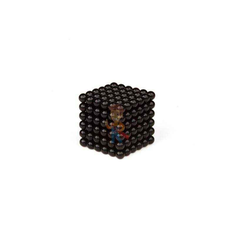 Forceberg Cube - куб из магнитных шариков 7 мм, черный, 216 элементов