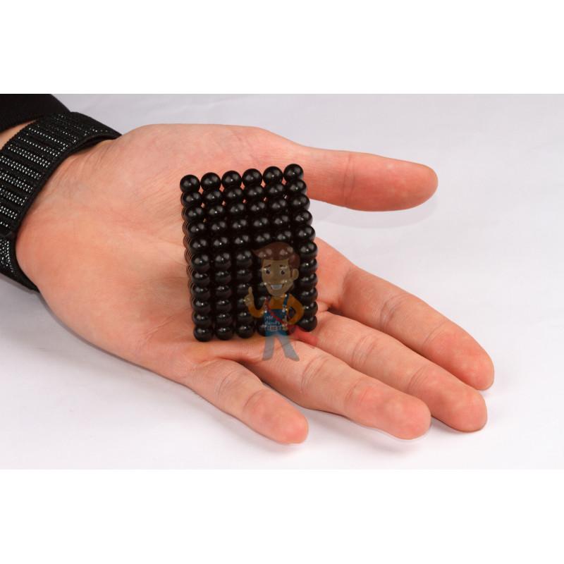 Forceberg Cube - куб из магнитных шариков 7 мм, черный, 216 элементов - фото 2